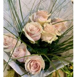 Bouquet de 7 roses pêches